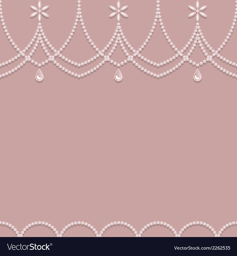 Seamless pearl ornament on a pink background vector | Price: 1 Credit (USD $1)