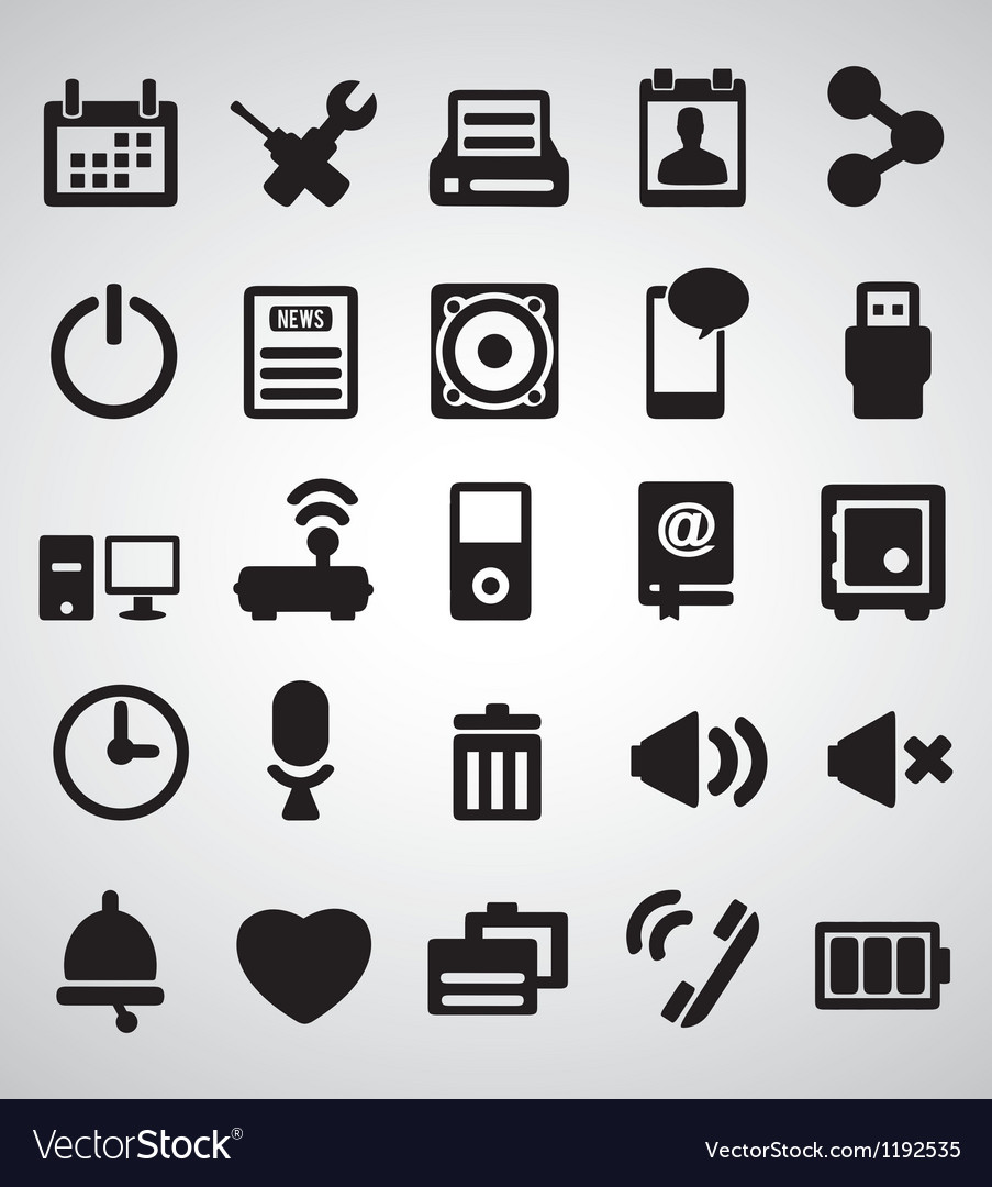 Set of internet icons - part 2 vector | Price: 1 Credit (USD $1)