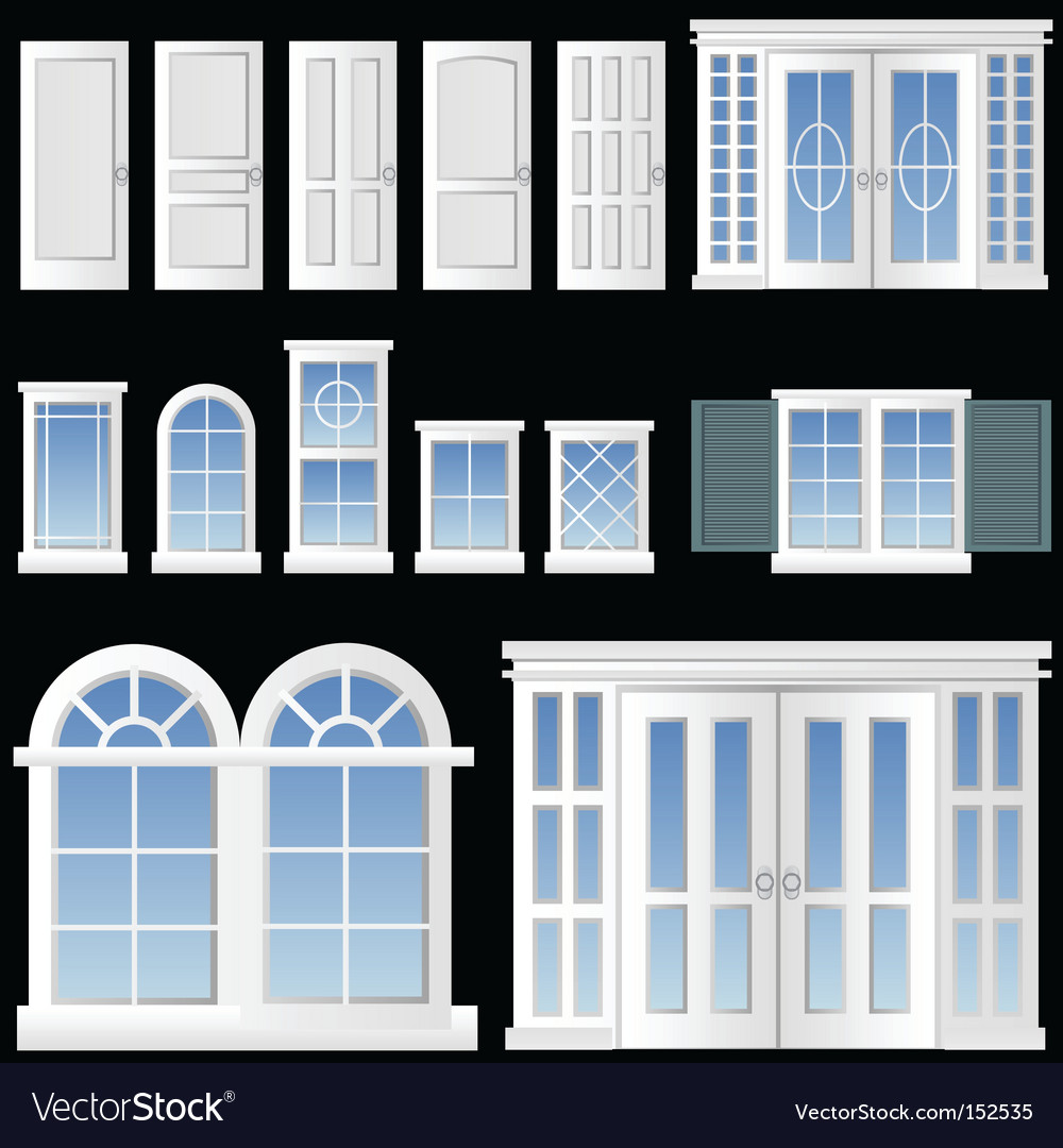Window and door vector | Price: 1 Credit (USD $1)