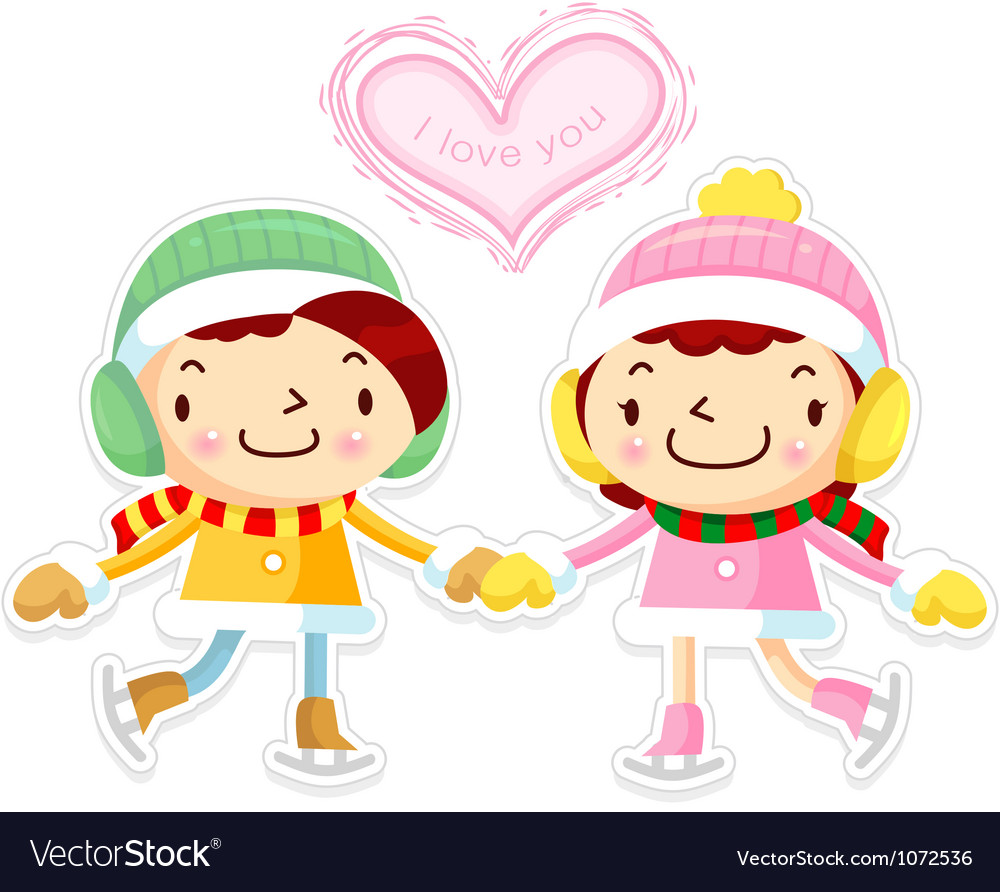 Card design utilizing dating couples mascot vector | Price: 3 Credit (USD $3)