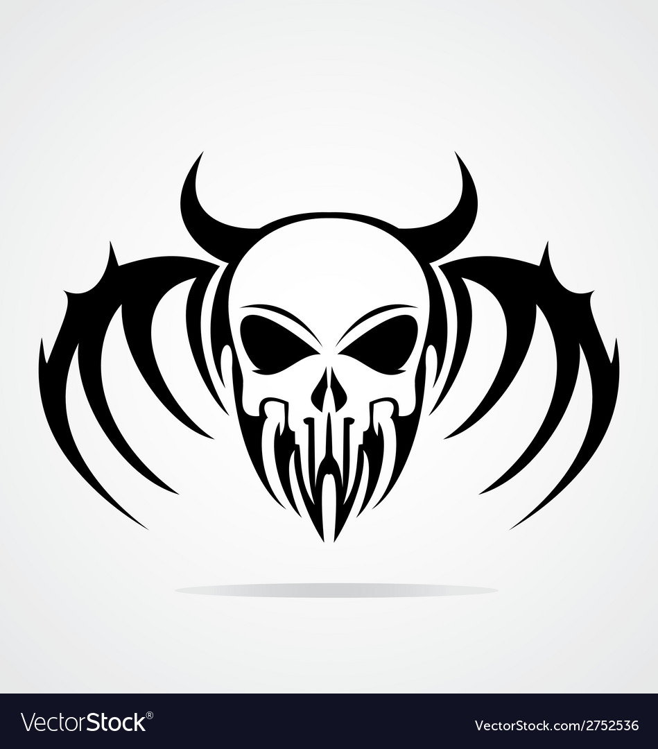 Demon skulls tribal vector | Price: 1 Credit (USD $1)