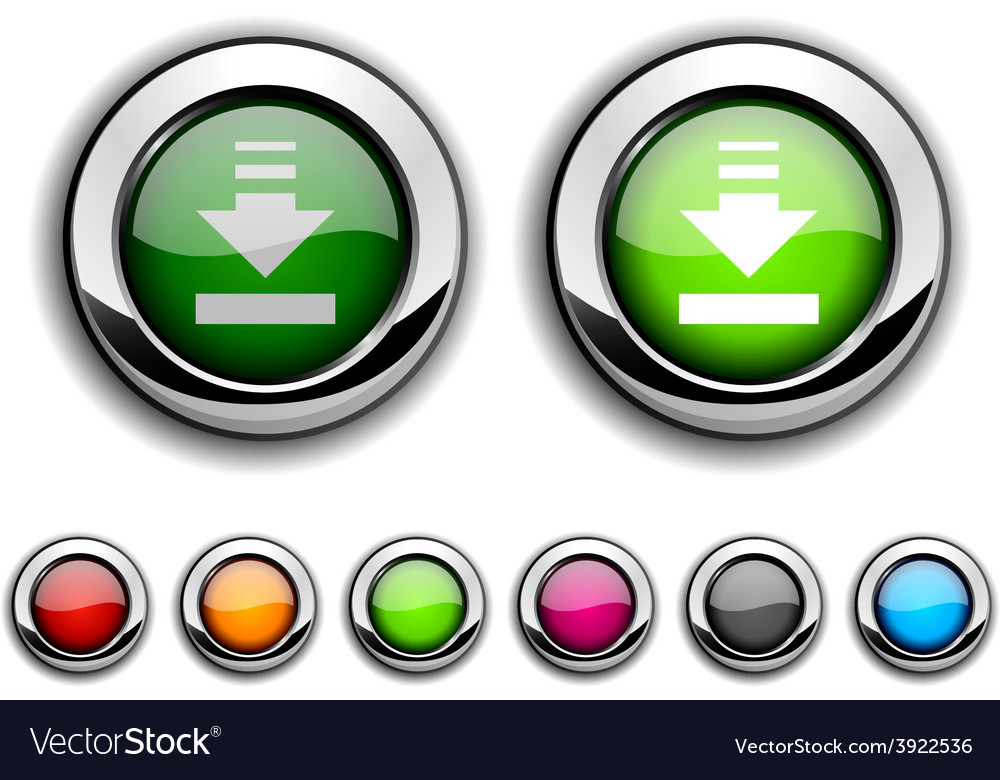 Download button vector | Price: 1 Credit (USD $1)