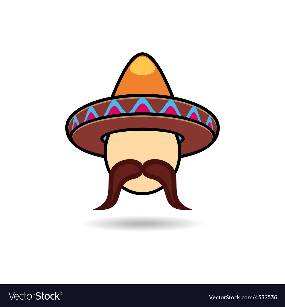 Man with sombrero vector | Price: 1 Credit (USD $1)