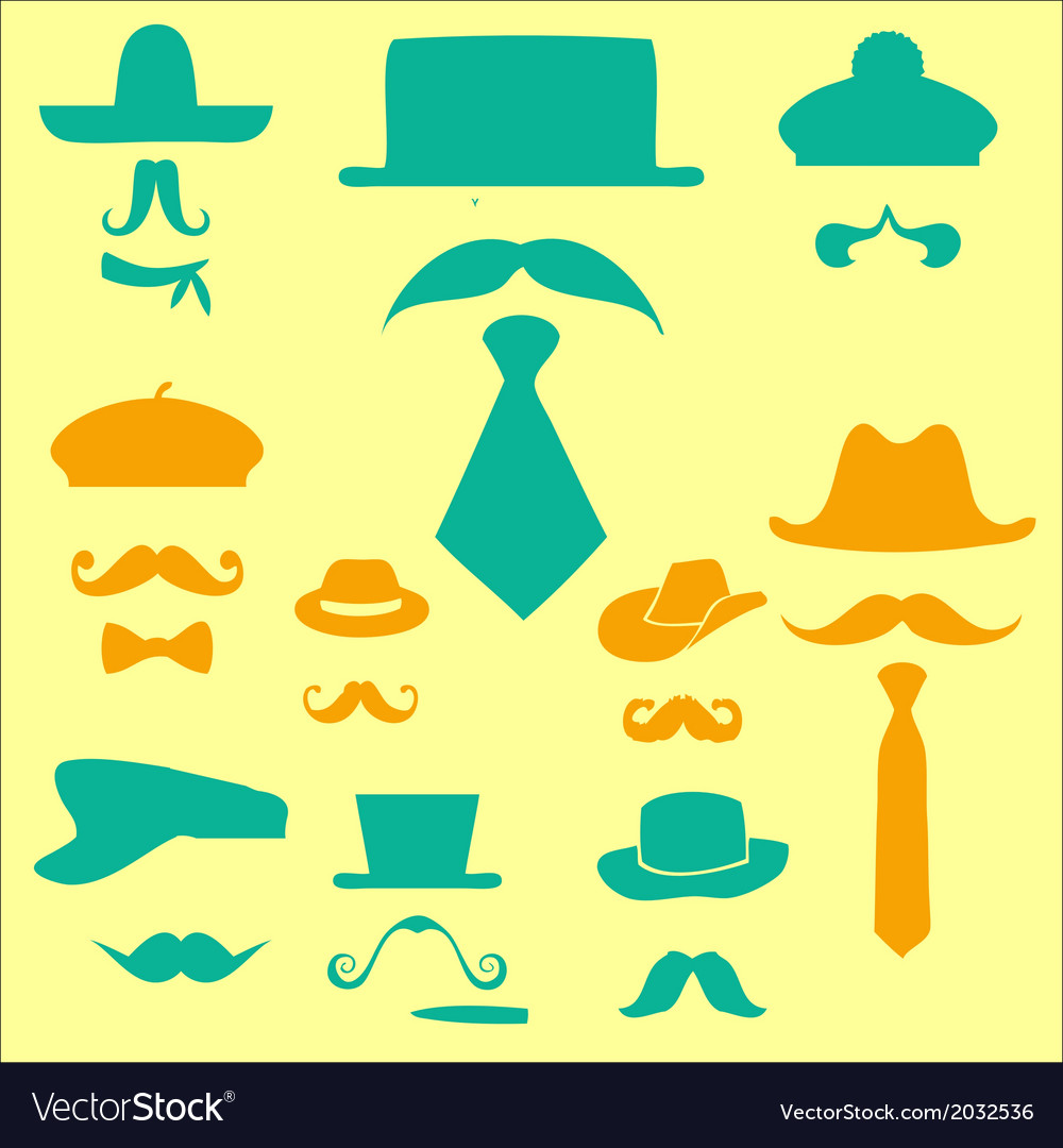 Mustache 1 vector | Price: 1 Credit (USD $1)