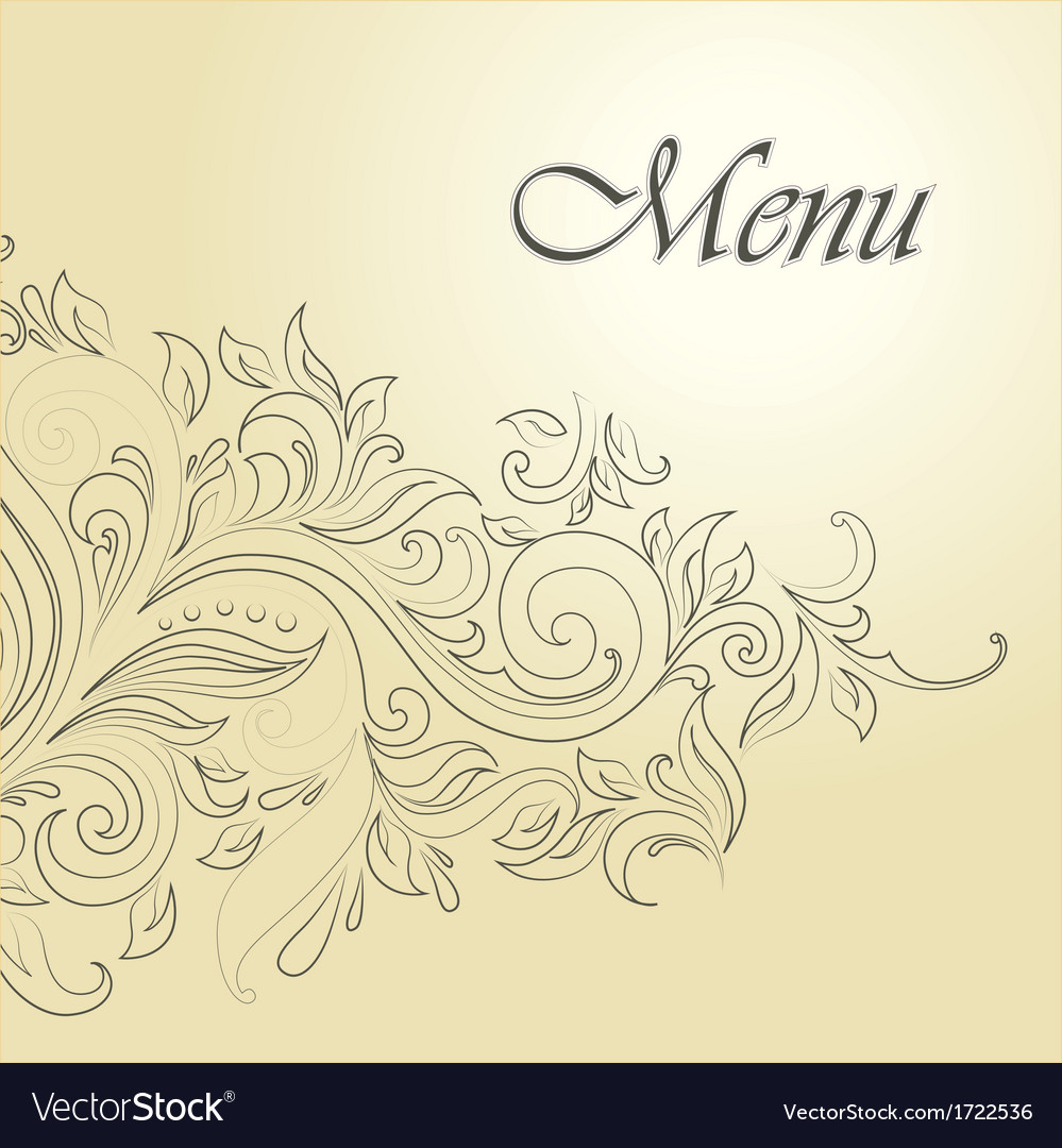 Ornate menu design vector | Price: 1 Credit (USD $1)