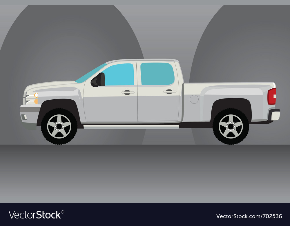 Pick up truck vector | Price: 1 Credit (USD $1)
