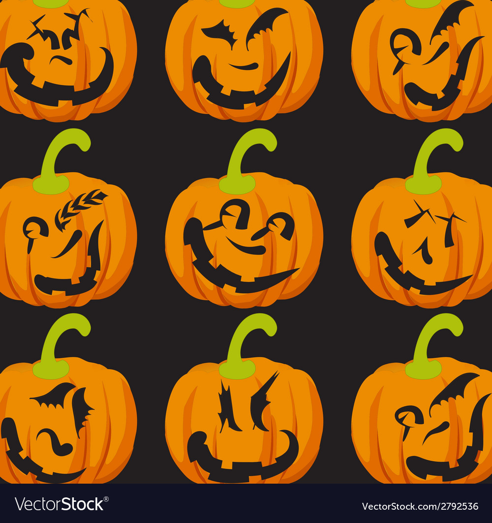 Pumpkin faces vector | Price: 1 Credit (USD $1)