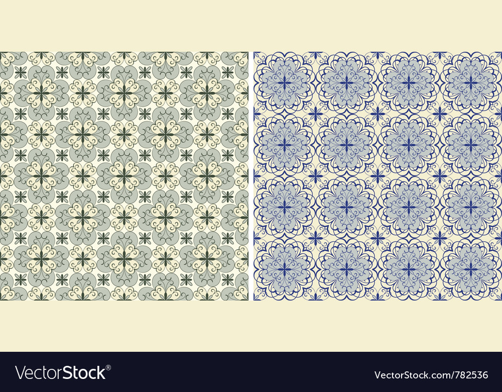 Seamless floral spring patterns vector | Price: 1 Credit (USD $1)