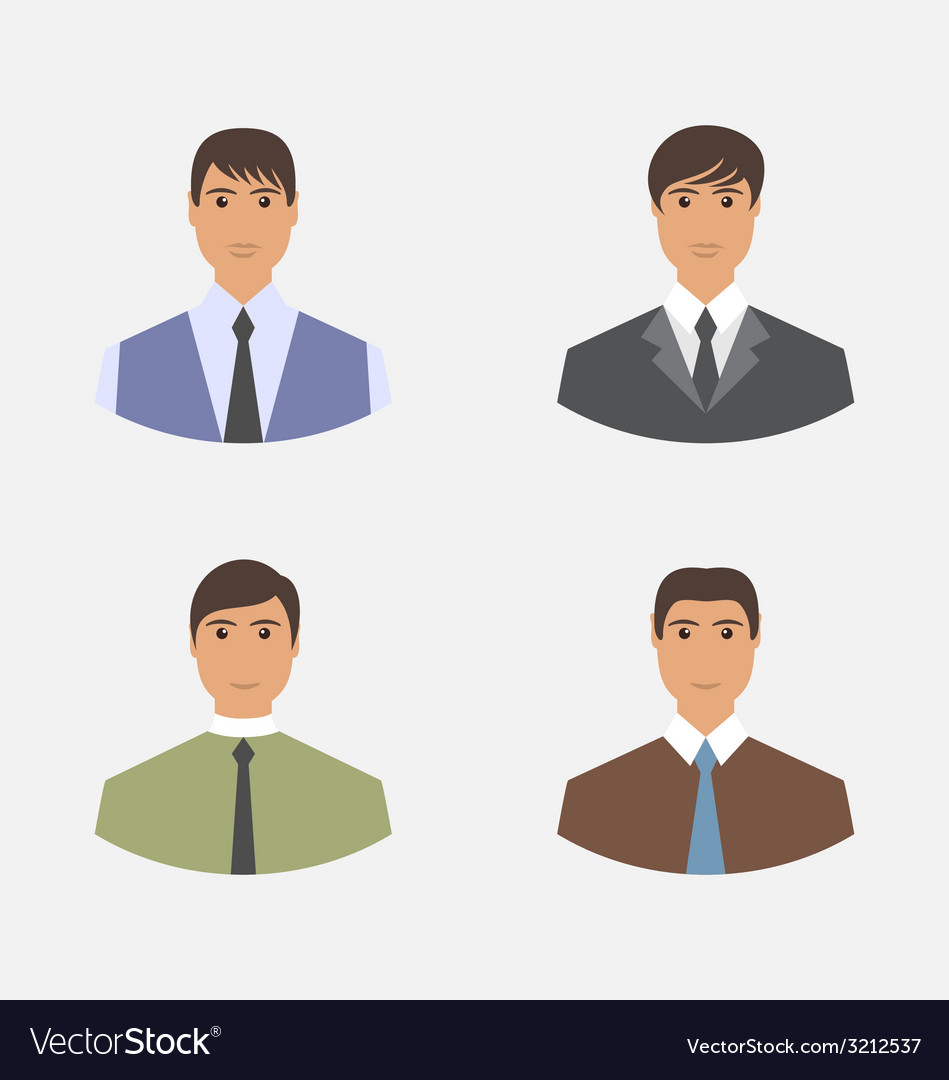 Avatar set front portrait office employee vector | Price: 1 Credit (USD $1)