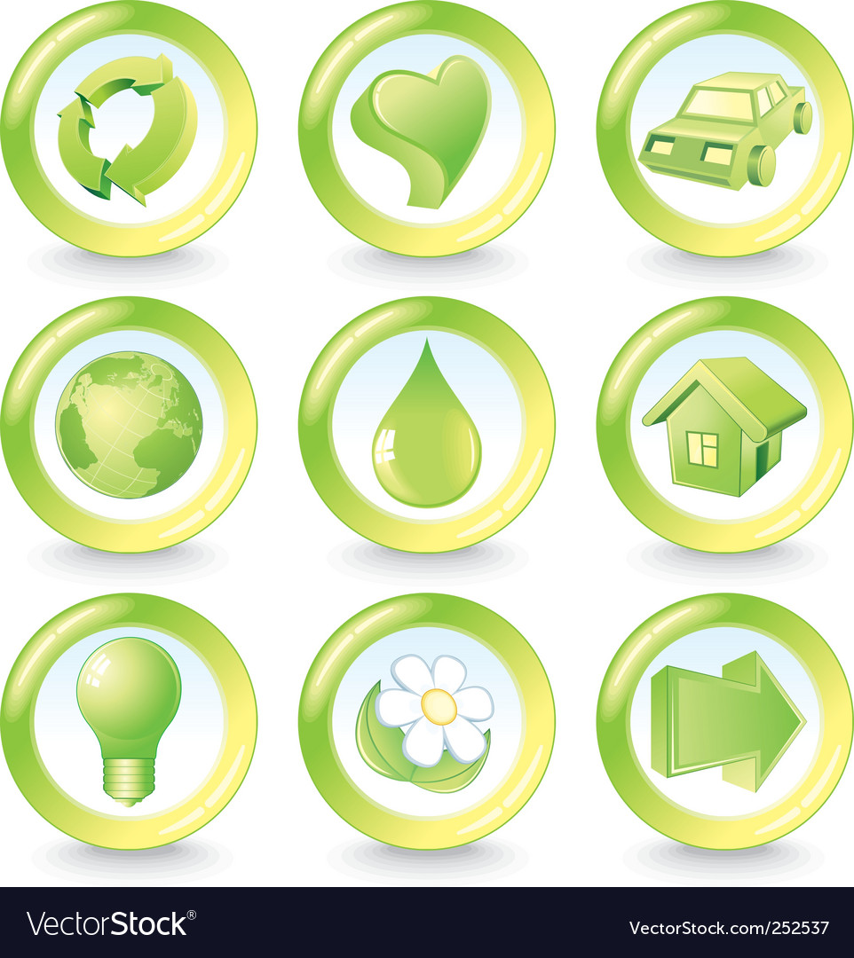 Ecology icons vector | Price:  Credit (USD $)