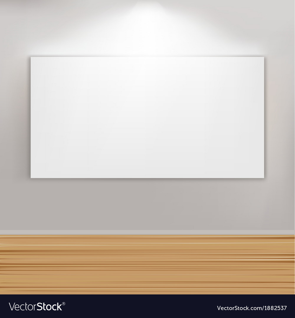 Empty paintings frame on wall vector | Price: 1 Credit (USD $1)