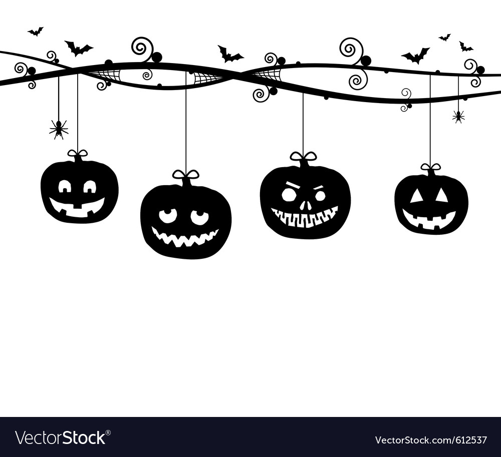 Hanging pumpkins vector | Price: 1 Credit (USD $1)