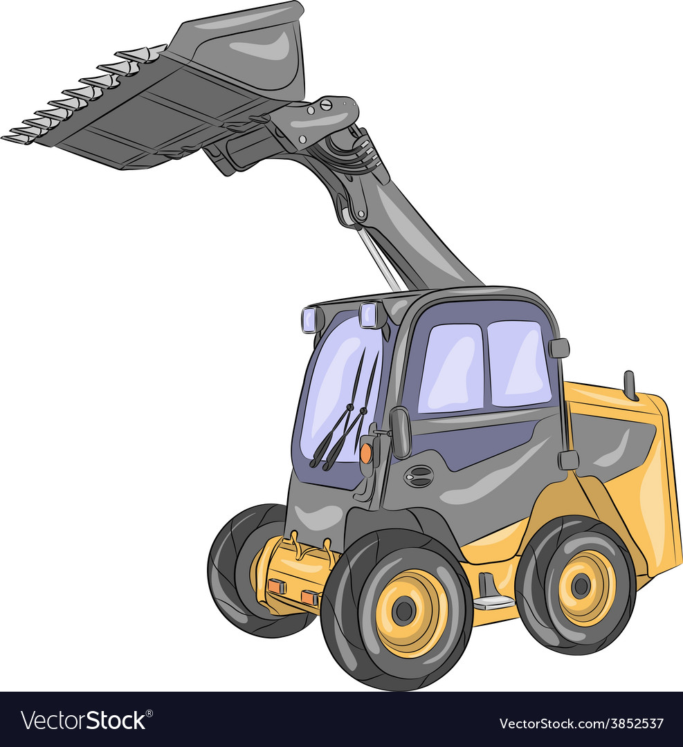 Mini bulldozer vector | Price: 1 Credit (USD $1)