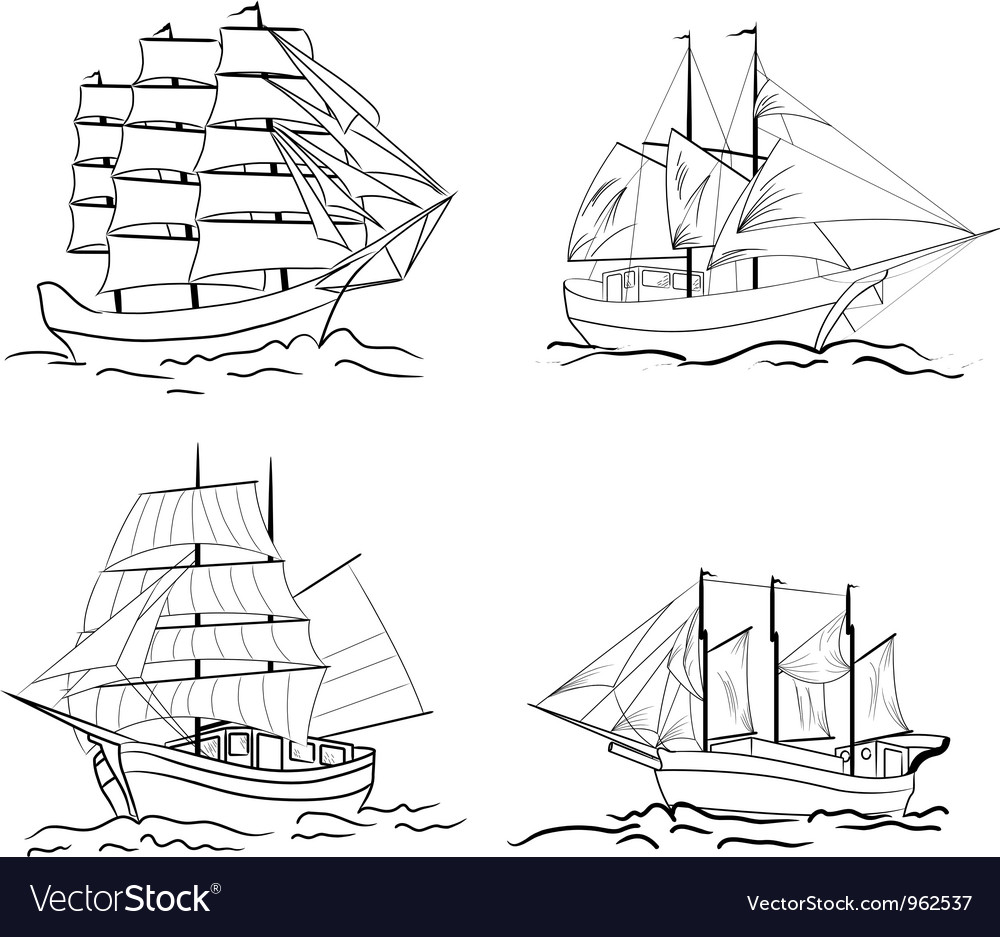 Sailing set vector | Price: 1 Credit (USD $1)