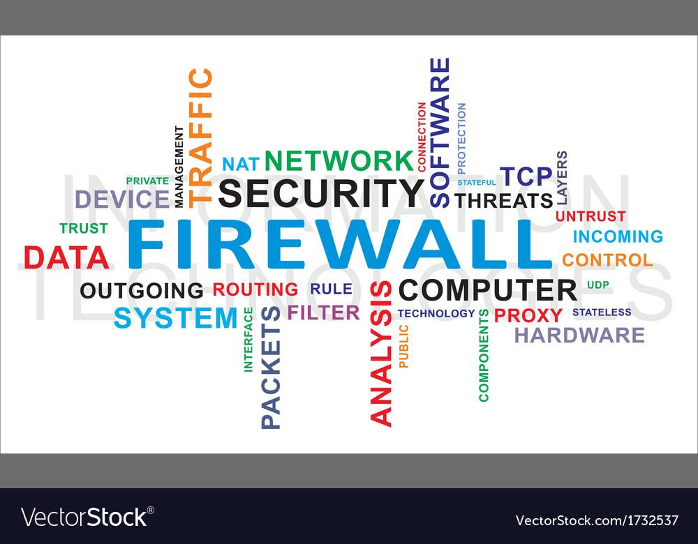 Word cloud firewall vector | Price: 1 Credit (USD $1)