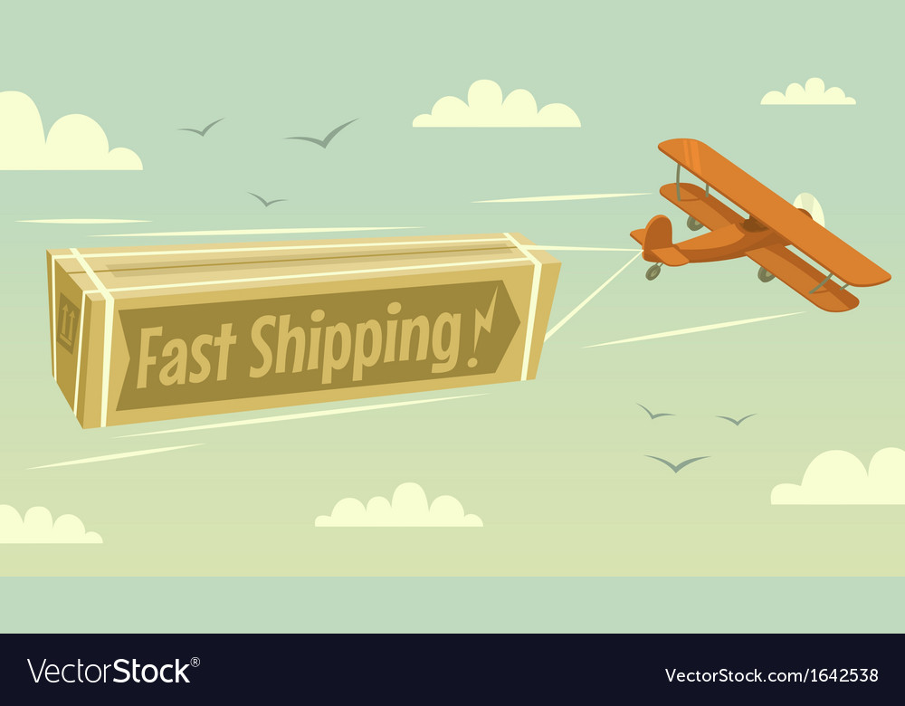Biplane and fast shipping vector | Price: 1 Credit (USD $1)