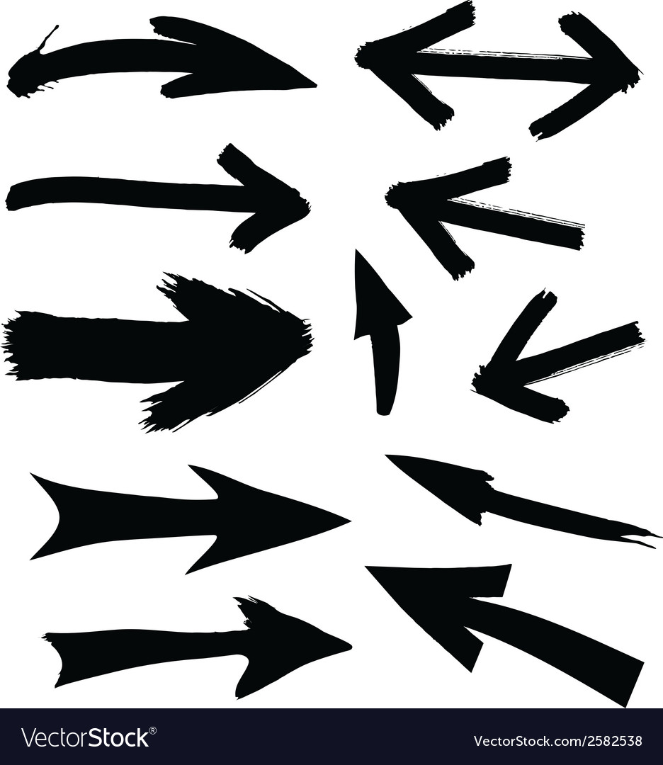 Black directional arrows vector | Price: 1 Credit (USD $1)