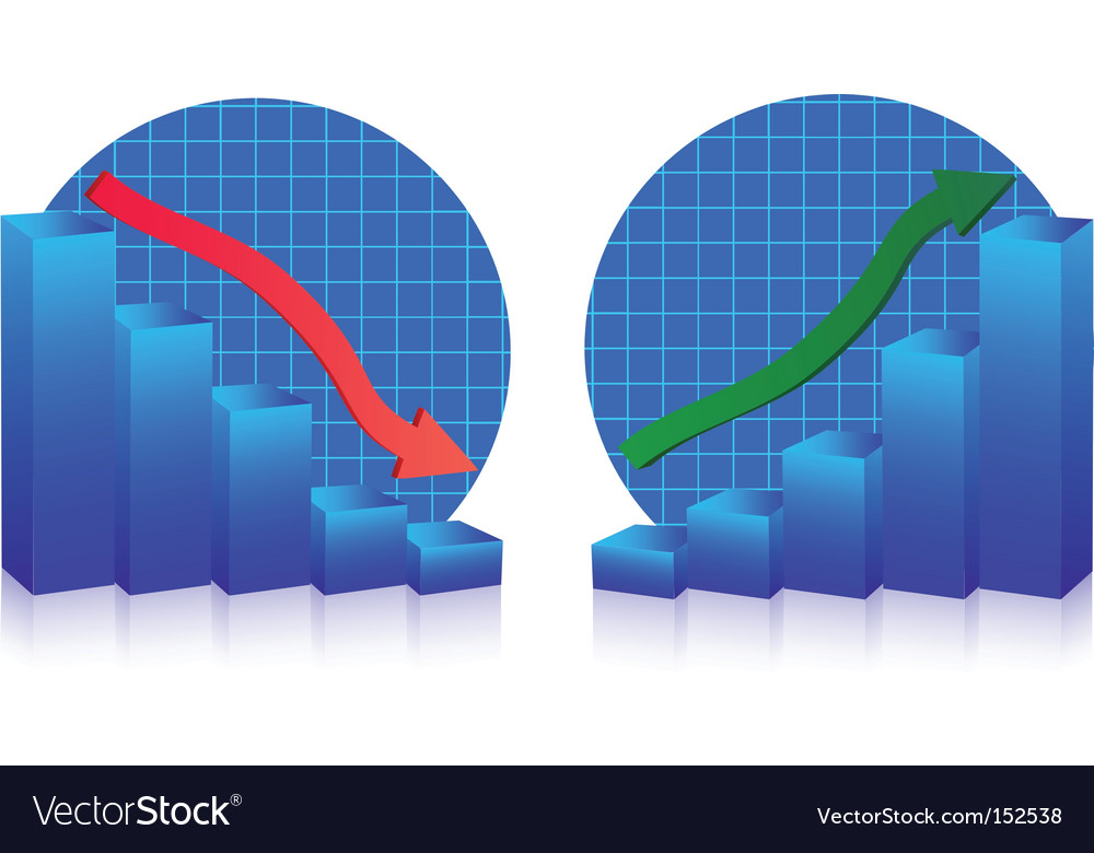 Business failure and growth graphs vector | Price: 1 Credit (USD $1)