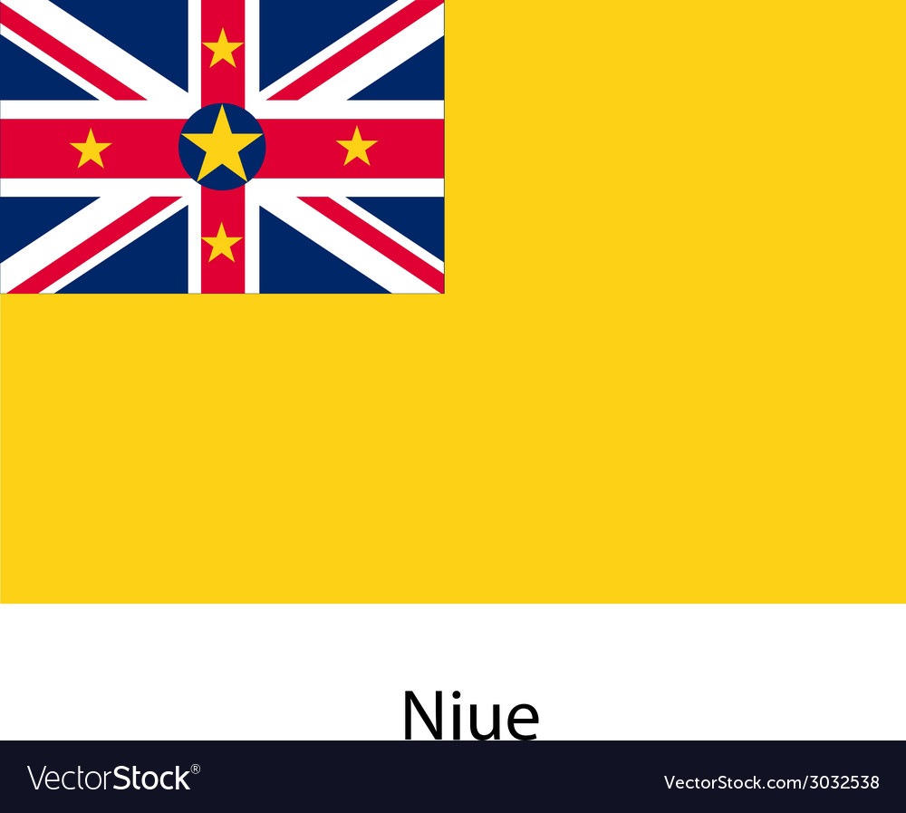 Flag of the country niue vector | Price: 1 Credit (USD $1)