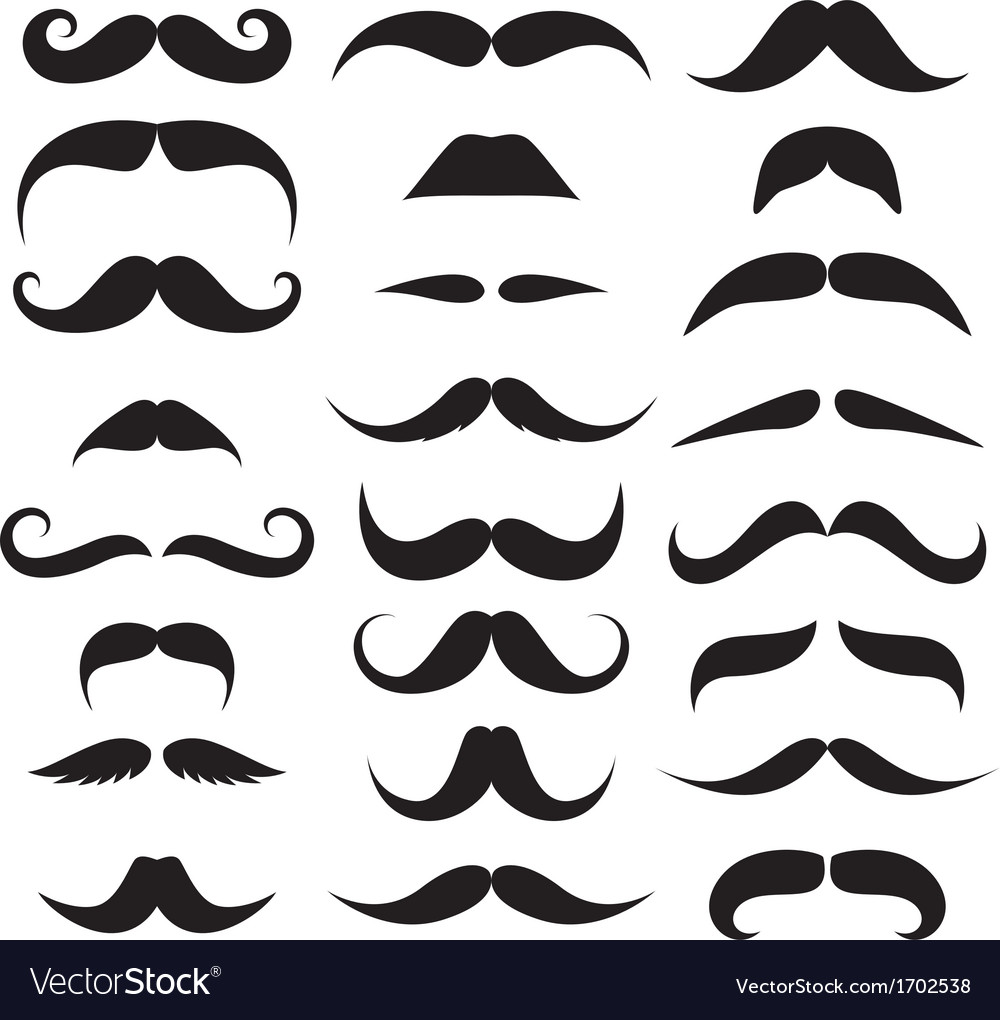 Huge set of mustache vector | Price: 1 Credit (USD $1)