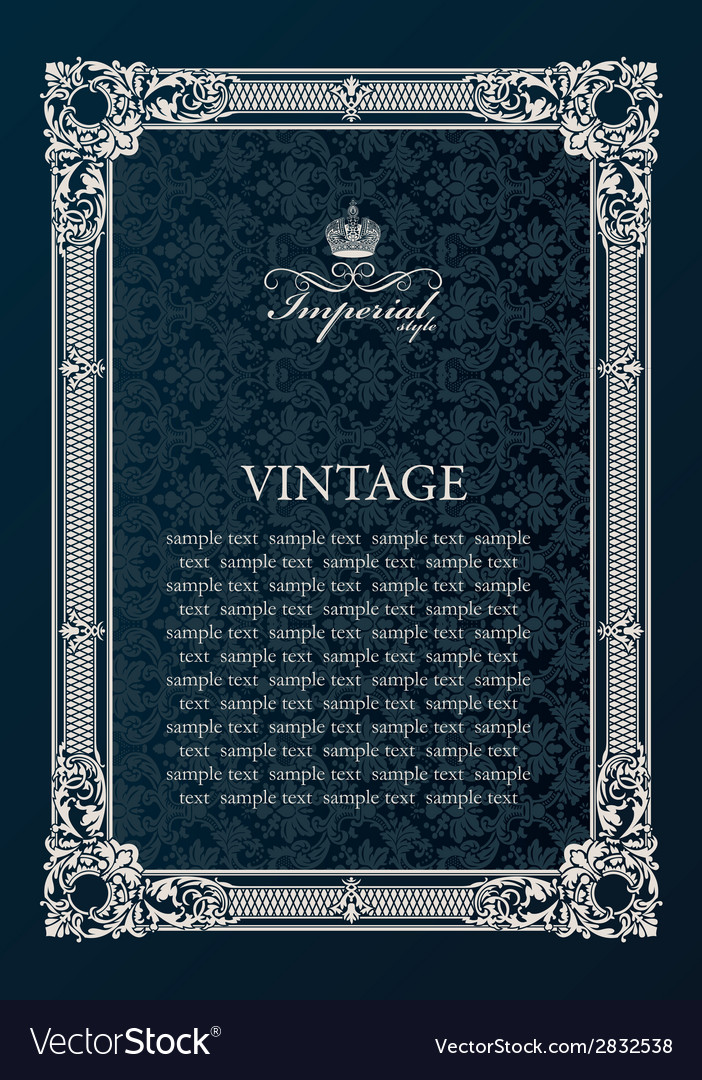 Label frame vintage antique decor ornament vector | Price: 1 Credit (USD $1)