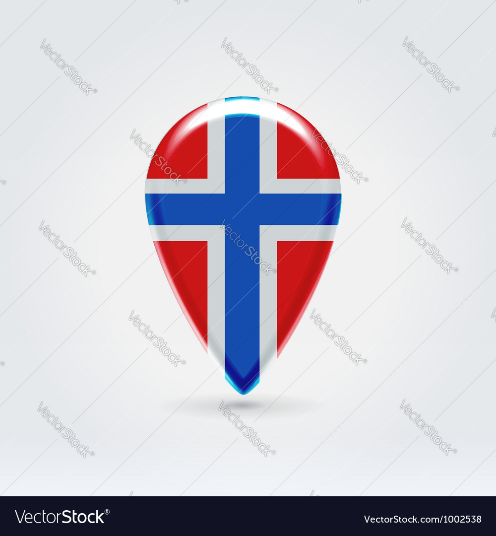 Norwegian icon point for map vector | Price: 1 Credit (USD $1)