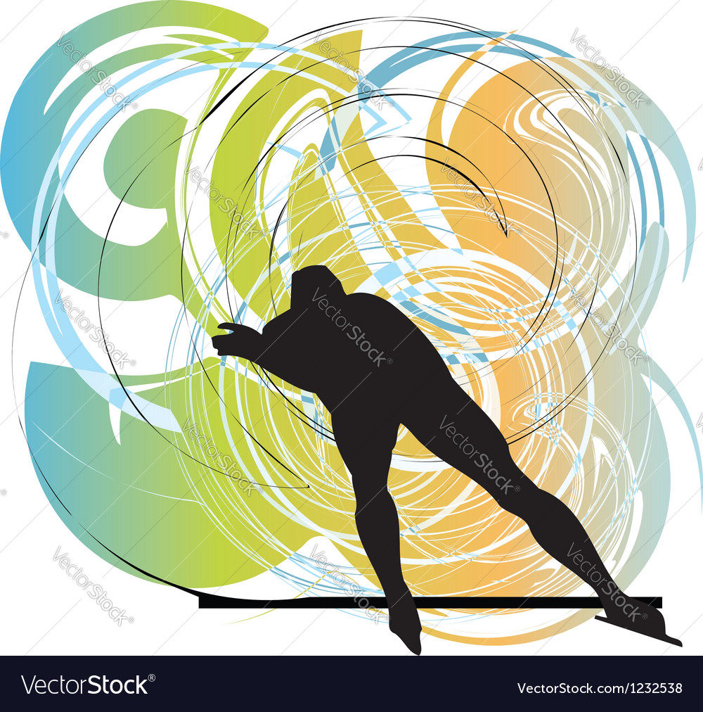 Skater in action vector | Price: 1 Credit (USD $1)
