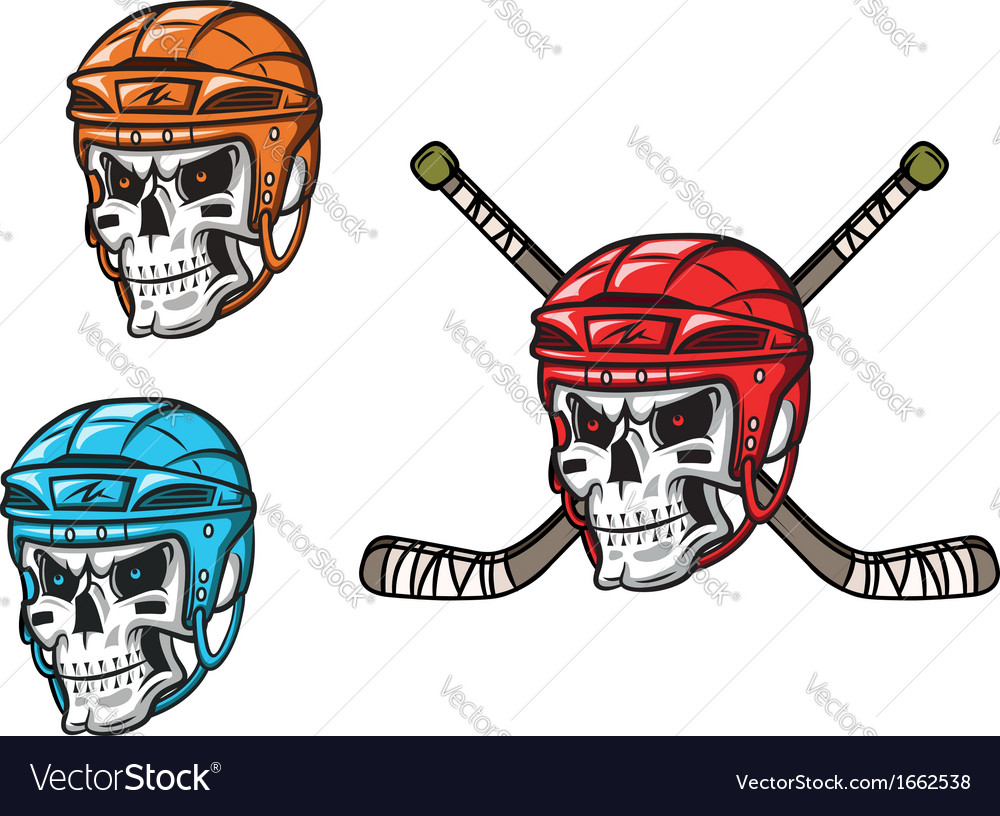 Skull with ice hockey amunition vector | Price: 1 Credit (USD $1)