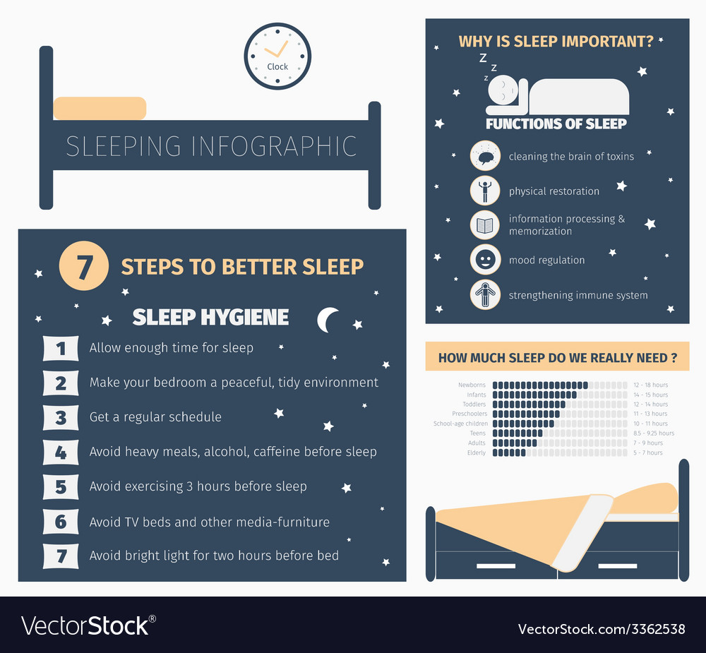 Sleep infographic vector | Price: 1 Credit (USD $1)