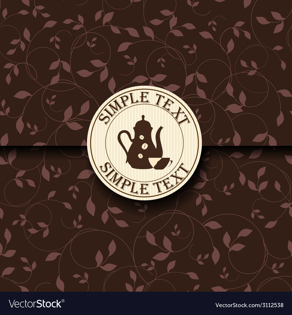 Template of a coffee shop vector | Price: 1 Credit (USD $1)