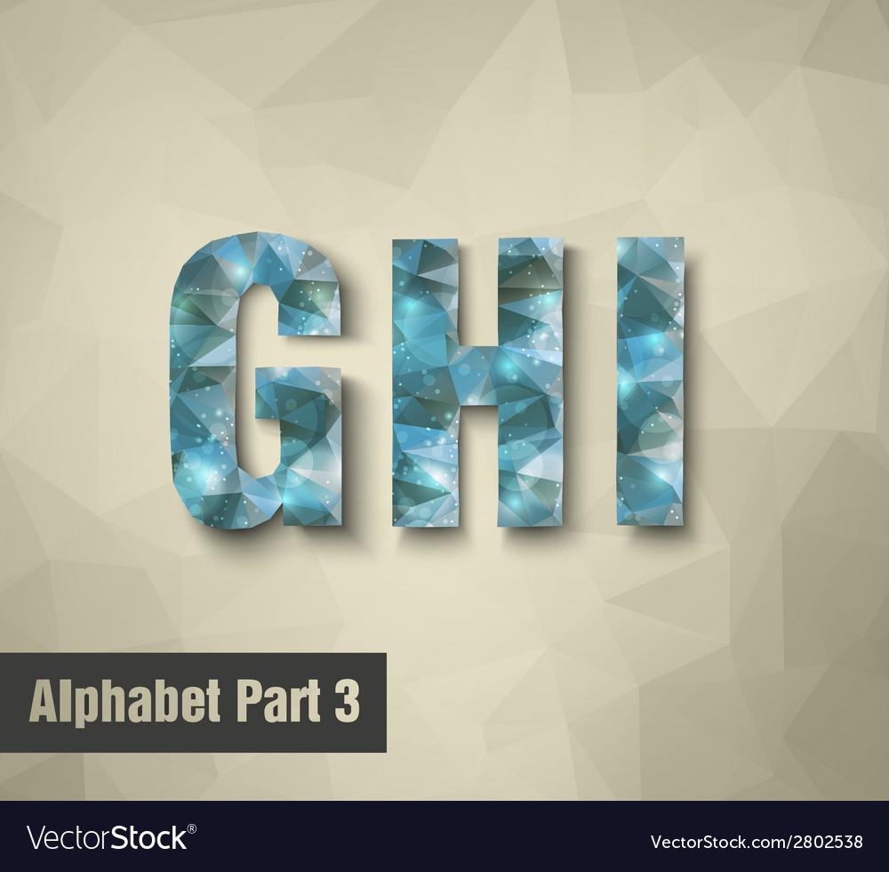 Triangular blue alphabet g h i vector | Price: 1 Credit (USD $1)