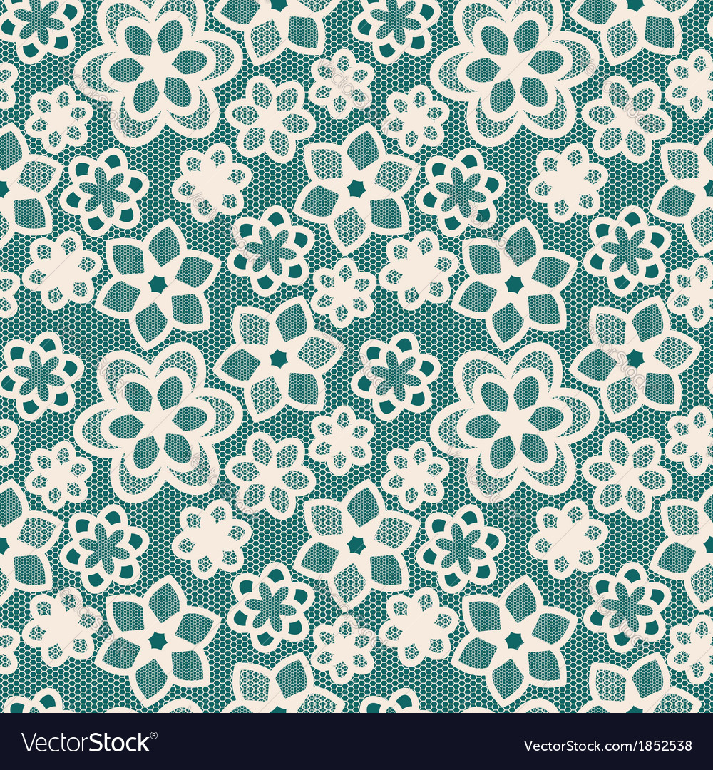 White flower lace on green blue background vector | Price: 1 Credit (USD $1)