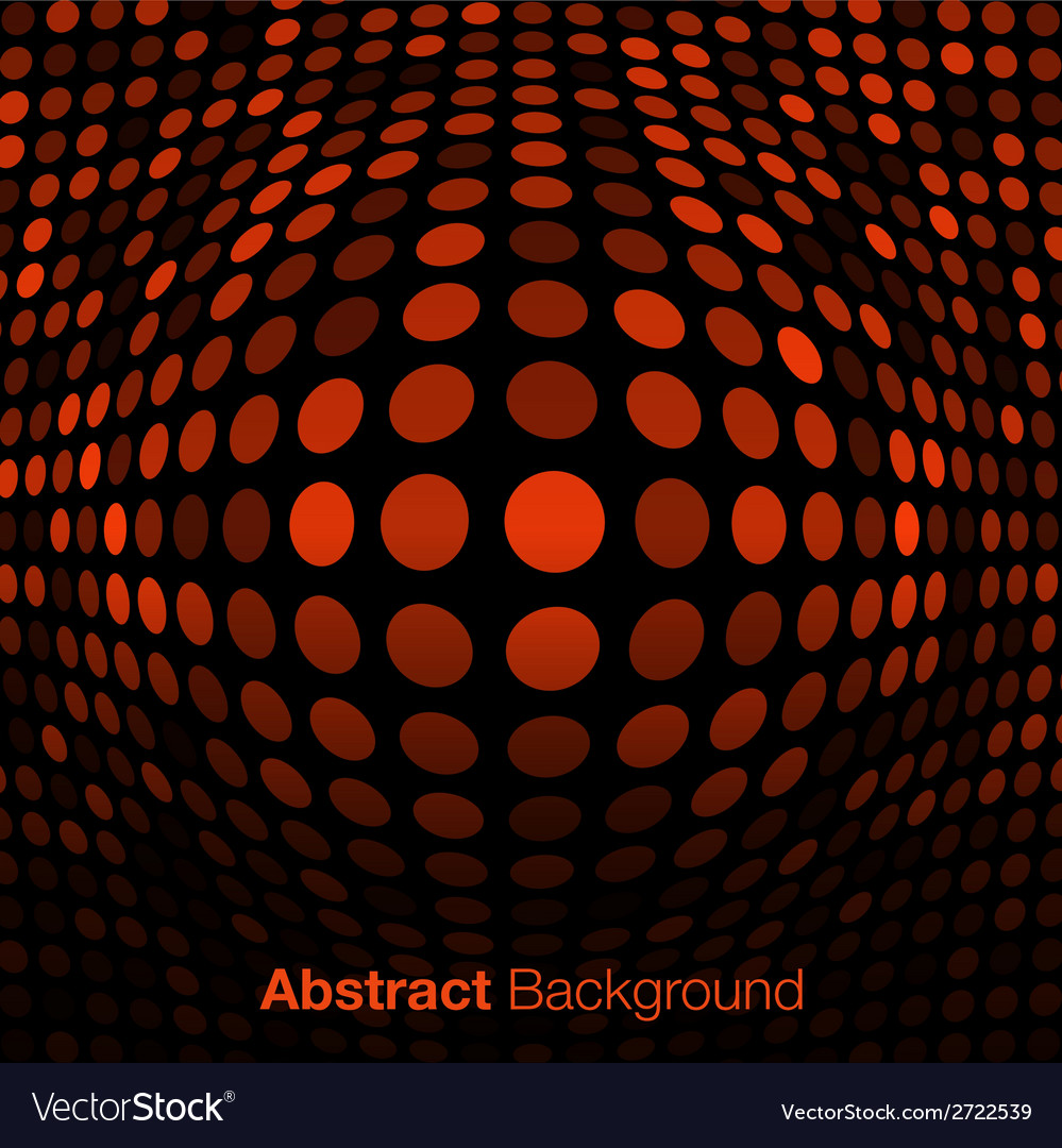 Abstract orange technology background vector | Price: 1 Credit (USD $1)