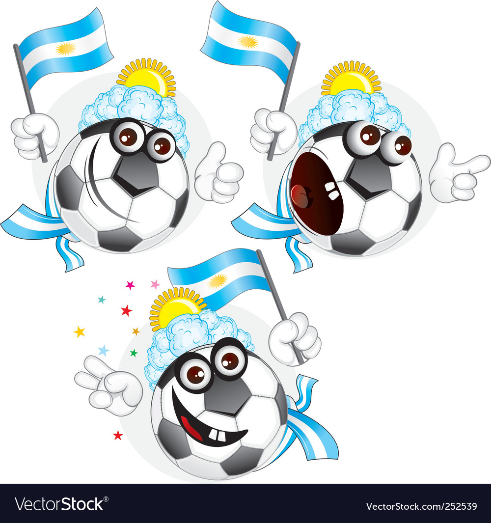 Argentinian cartoon ball vector | Price: 3 Credit (USD $3)
