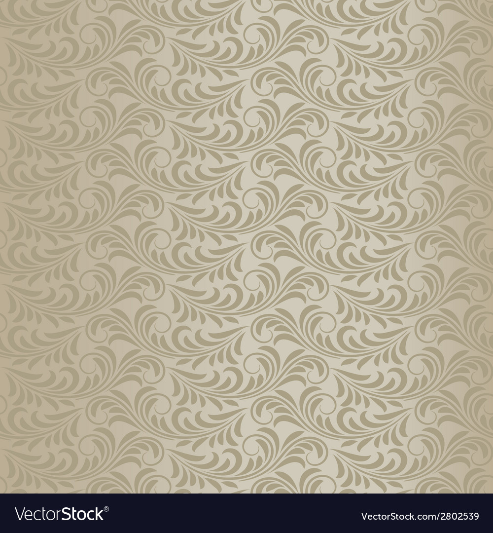 Beige baroque pattern vector | Price: 1 Credit (USD $1)