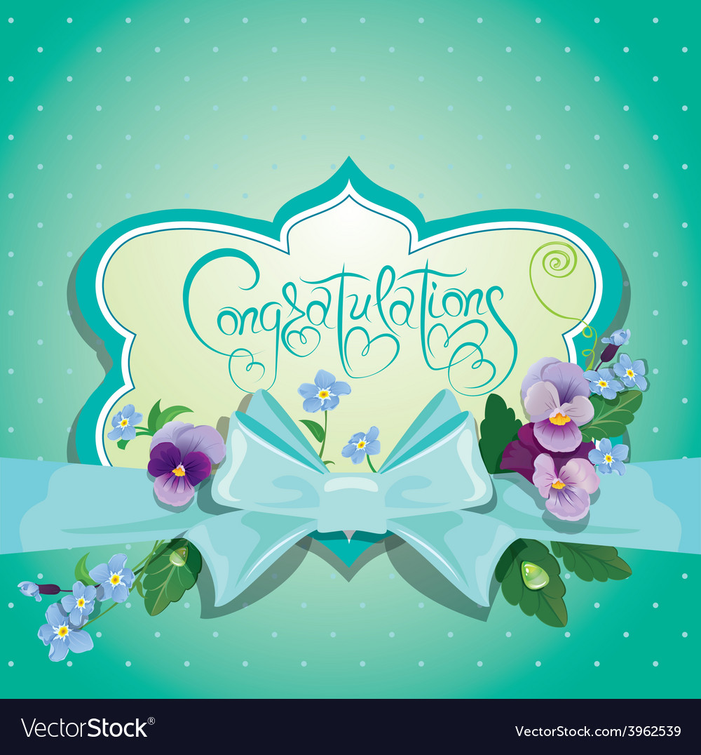 Blue bow card 380 vector | Price: 1 Credit (USD $1)