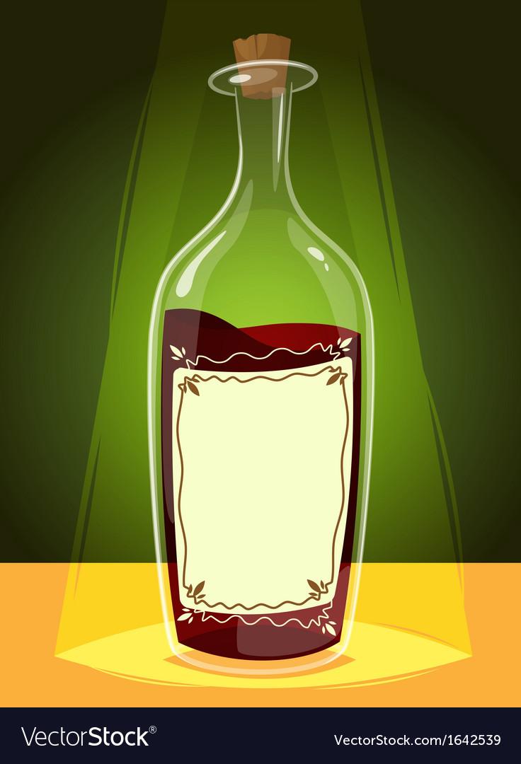 Bottle of wine vector | Price: 1 Credit (USD $1)
