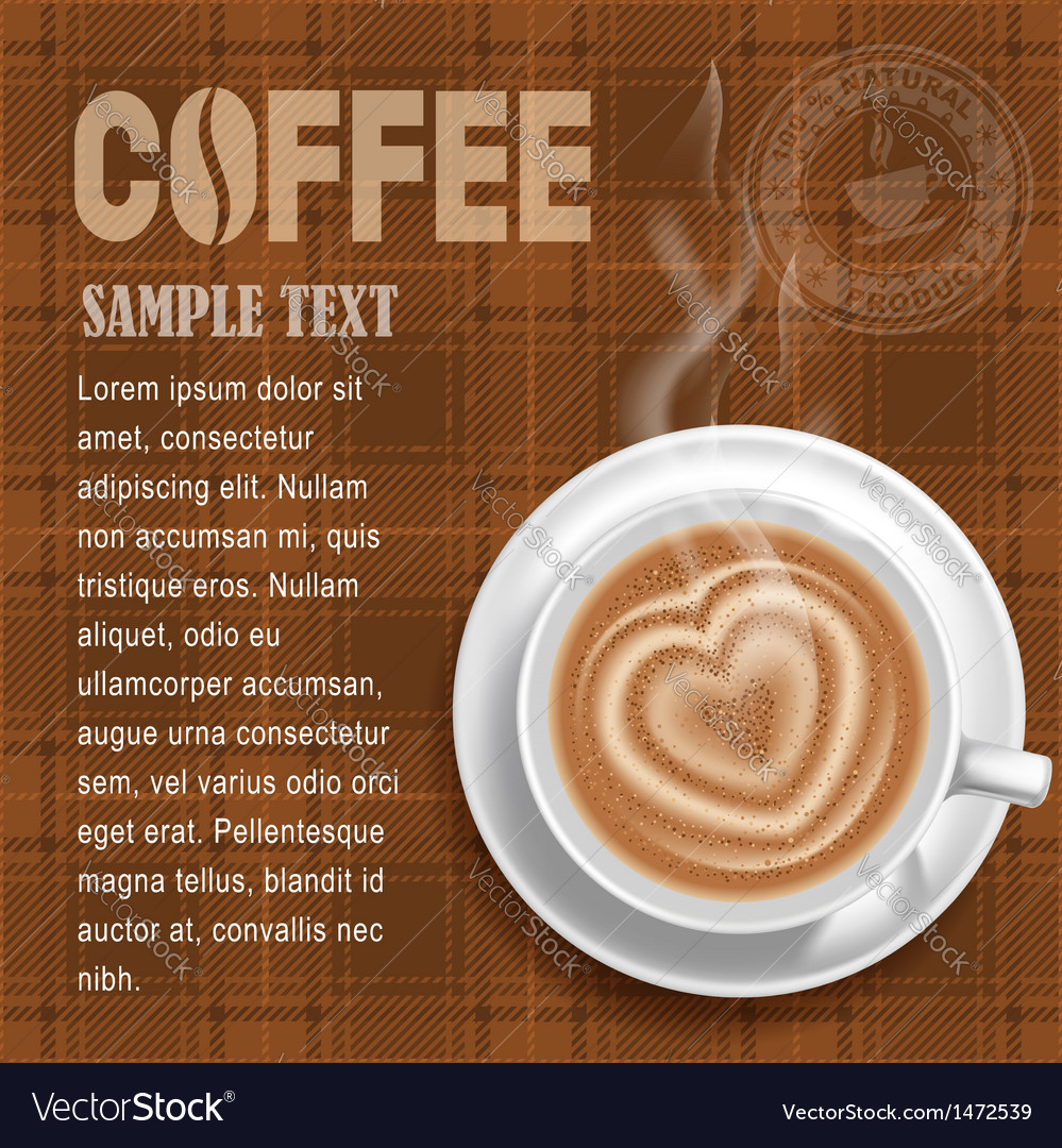 Coffee background vector | Price: 3 Credit (USD $3)