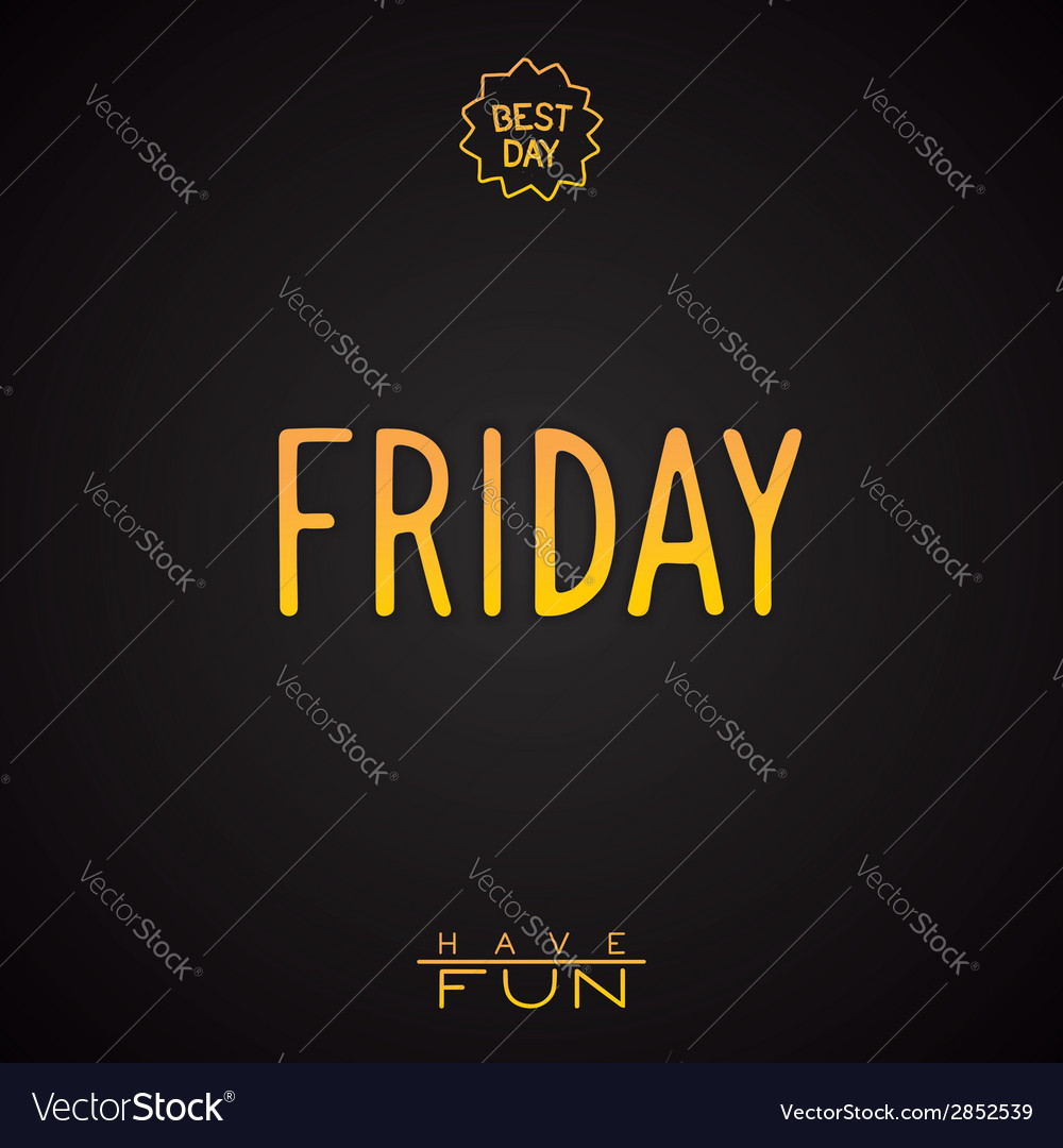 Gold lettering - friday vector | Price: 1 Credit (USD $1)