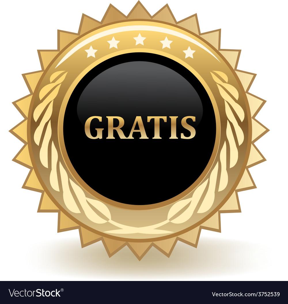 Gratis badge vector | Price: 1 Credit (USD $1)