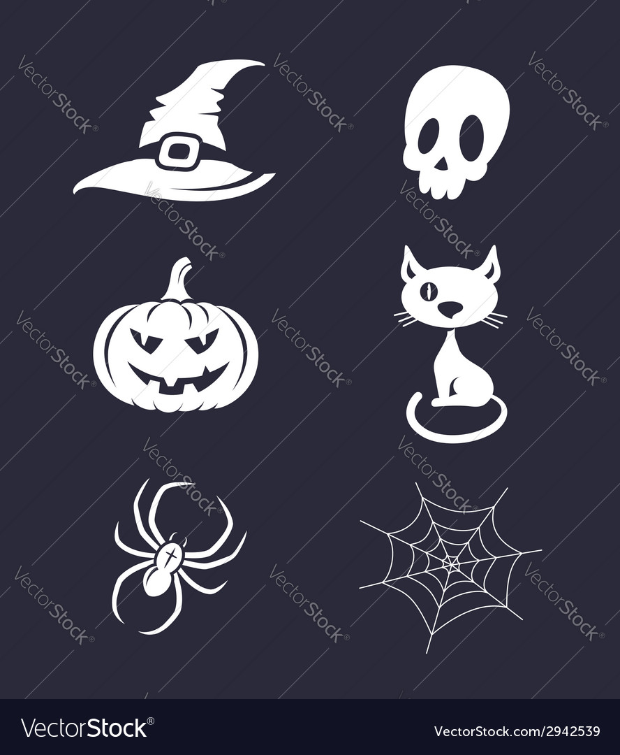 Halloween icons vector | Price:  Credit (USD $)