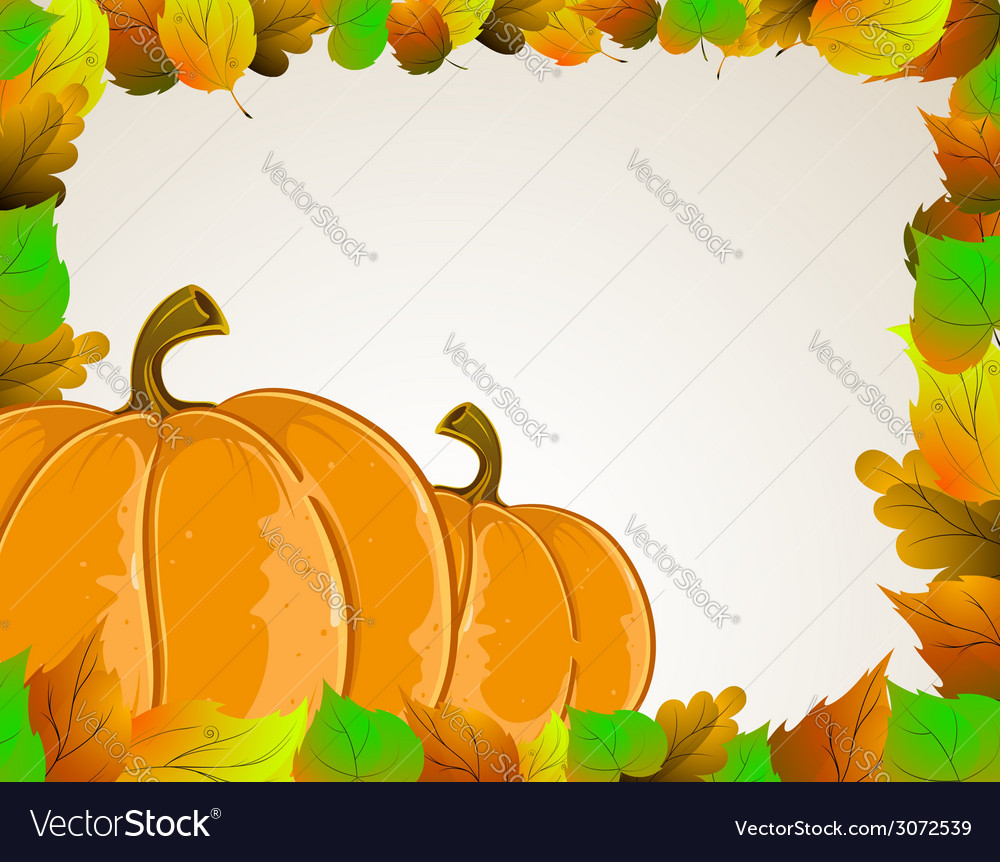 Pumpkins and leaves vector | Price: 1 Credit (USD $1)