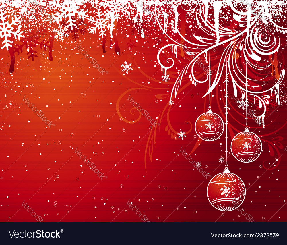 Red christmas background vector | Price: 1 Credit (USD $1)