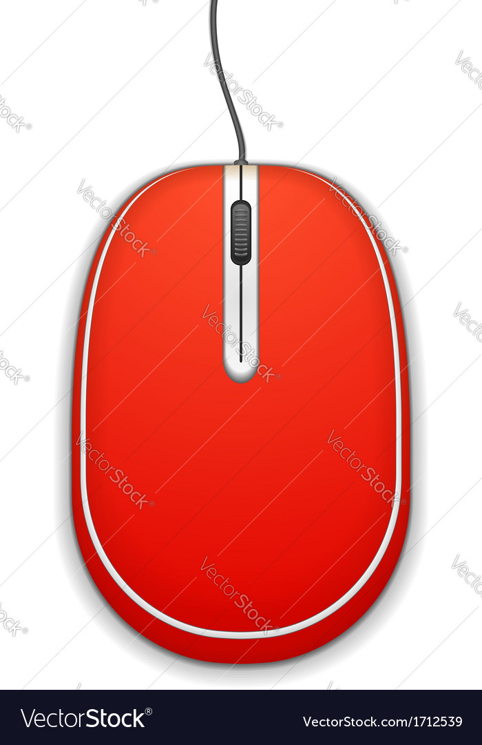 Red computer mouse vector | Price: 1 Credit (USD $1)
