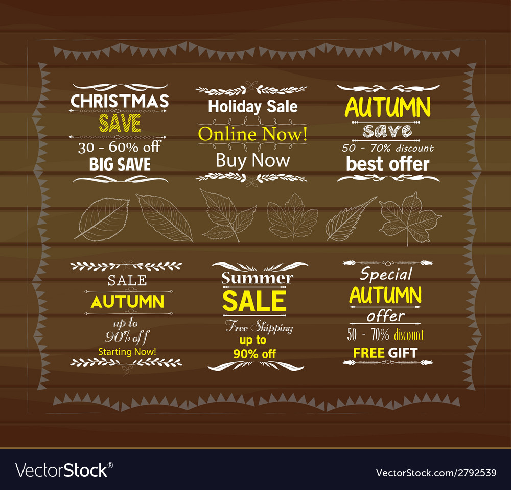 Set of special sale offer labels vector | Price: 1 Credit (USD $1)