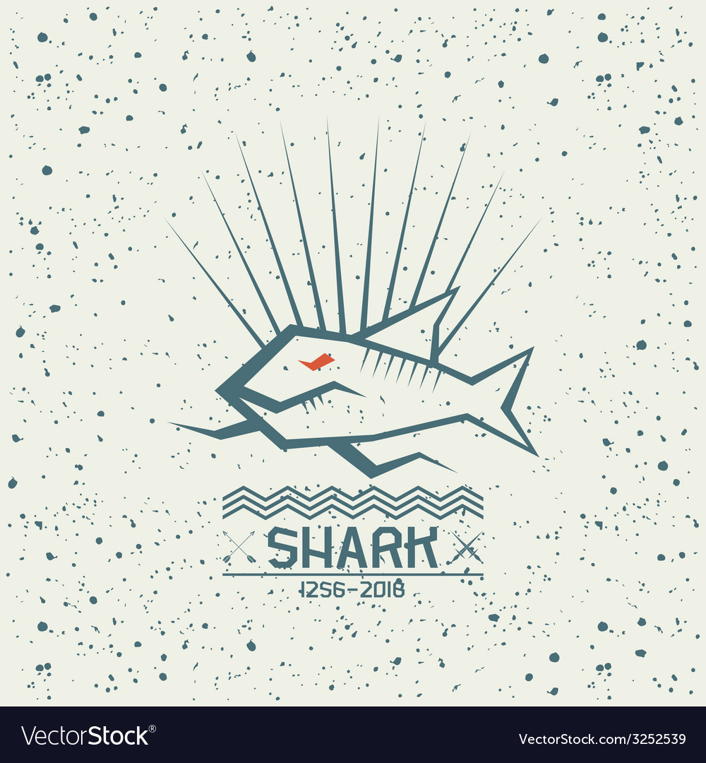 Shark emblem vector | Price: 1 Credit (USD $1)
