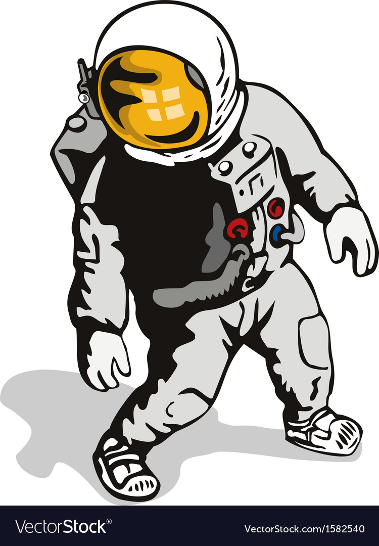 Astronaut retro vector | Price: 1 Credit (USD $1)