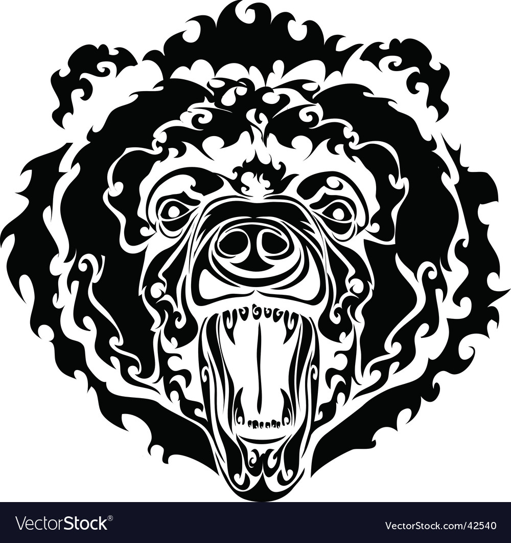 Black bear vector | Price: 1 Credit (USD $1)