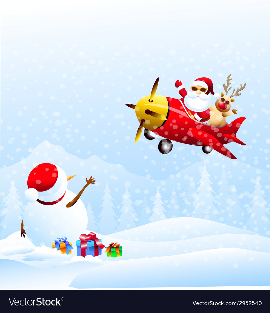 Good by snowman vector | Price: 1 Credit (USD $1)