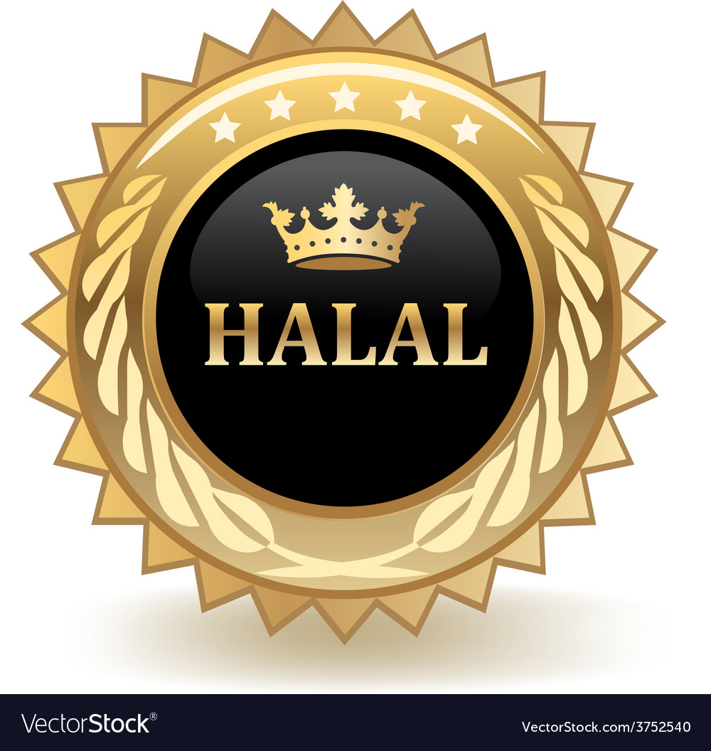 Halal badge vector | Price: 1 Credit (USD $1)